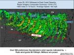 Fierce June 29, 2012 Derecho storm that hit the East Coast.